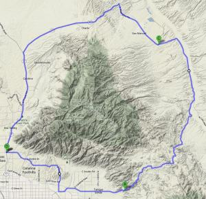 Mt Lemmon Loop Map