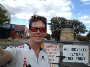 At the top of the final climb, Kitt Peak
