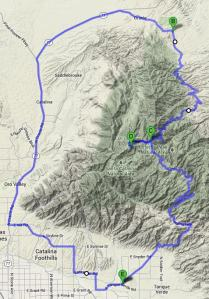 Mt Lemmon Oracle Map