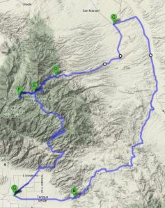 Mt Lemmon Redington Map