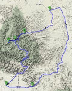 Mt Lemmon Redington Map