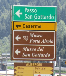 San Gottardo Sign
