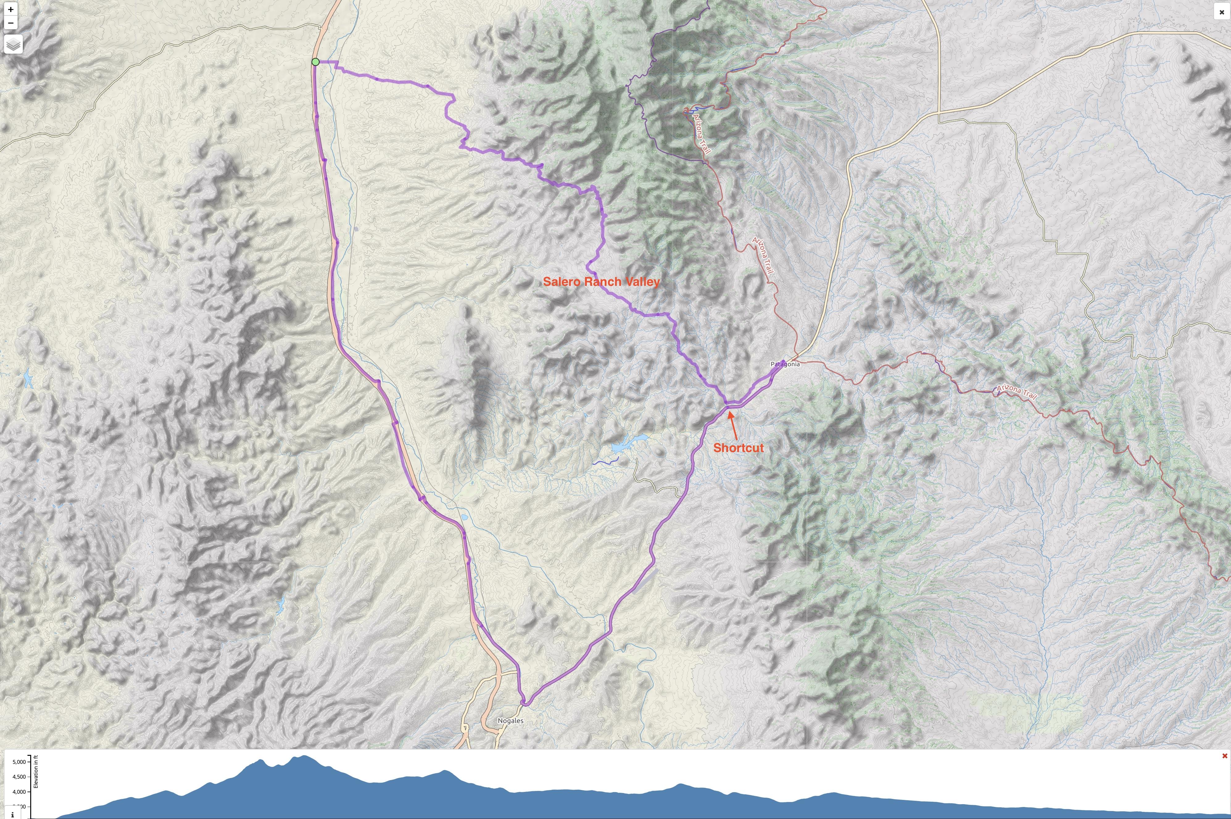 Amado-Patagonia-Nogales Loop